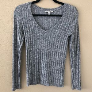 Express One Eleven Tight Gray Sweater